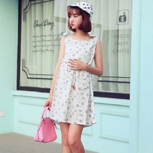 2016 new summer maternity dresses cotton print dresses pregnant dresses 16069