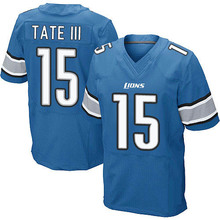Men's #15 Golden Tate III Elite Light Blue Team Color Football Jersey 100% stitched(China (Mainland))