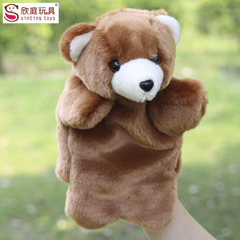 Фотография Plush hand puppets Small bears the seal horse toy hand puppets Parent-child interaction family/plus h toys  protection material