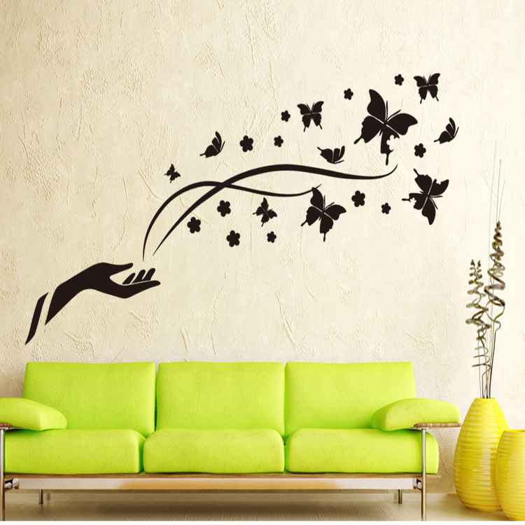Бабочки и цветы на стену