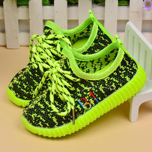 Autumn Children Yeezy Shoes Girls Casual Sneakers Coconut Shoes Breathable yeezy shoe Fashion Boys Flat Casual Shoes Pink 21-25(China (Mainland))