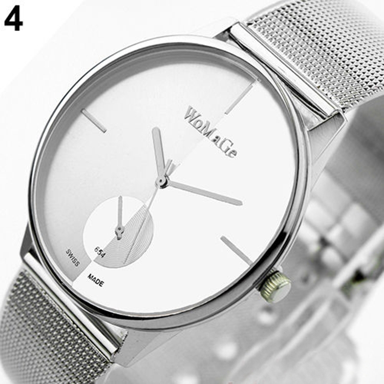 Гаджет  relogios femininos de marca Womage Brand Watches Women Dress Watches Casual Watch Stainless Steel Lover