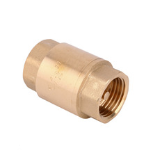 1Pcs 1/2'' NPT Brass In-Line Spring Vertical Check Valve Copper Control Tool 200WOG(China (Mainland))