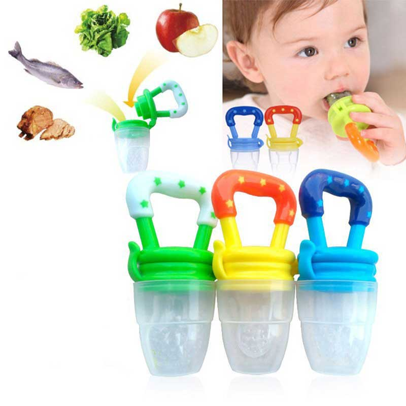 1PCS Baby Pacifier Fresh Food Milk Nibbler Feeder Kids Nipple Feeding Safe Baby Supplies Nipple Teat Pacifier Bottles S/M/L Size