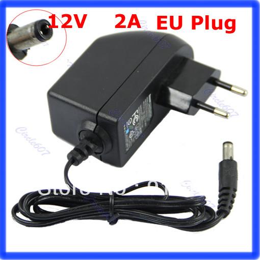 N94 Free shipping AC 100 240V to DC 12V 2A EU Plug AC DC Power adapter