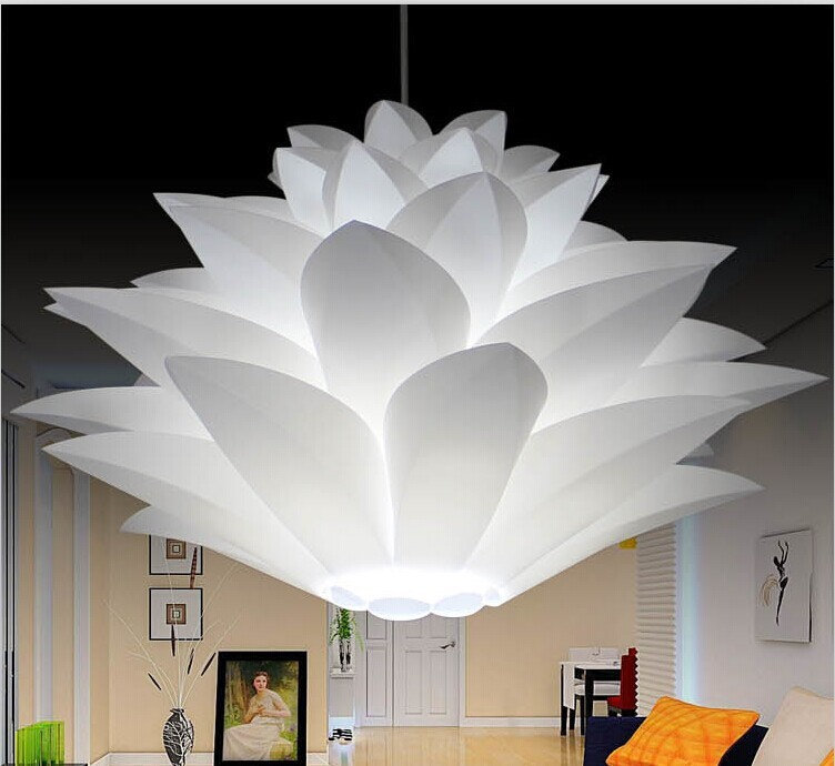 Novelty Lotus IQ lights Puzzle lamps creative novel DIY Modern PP/PVC Pendant light lotus led ...