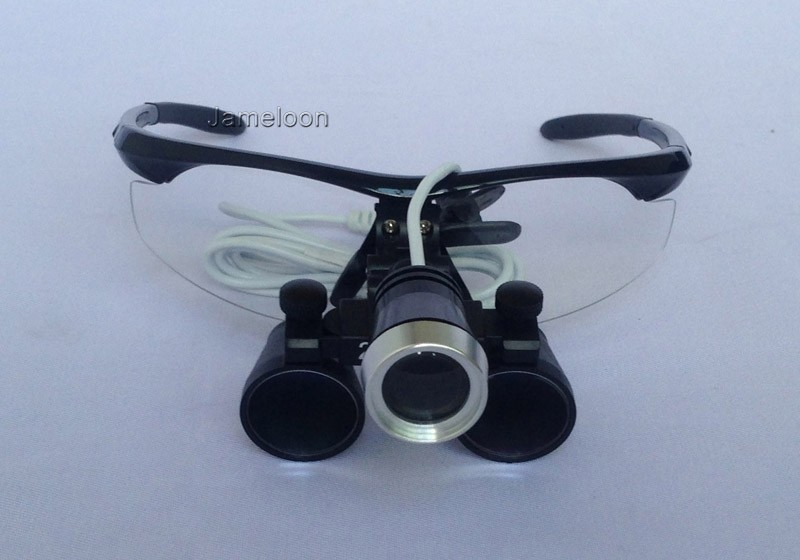 2.5X magnification binocular dental loupe with headlight led light antifog glasses medical magnifier surgery surgical loupe