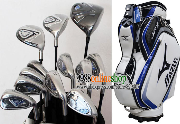 New Golf Clubs JPX 825 Golf driver+Fairway Wood+9irons+bag Complete Club Set Graphite Golf Shaft and wood headcover FreeShipping(China (Mainland))