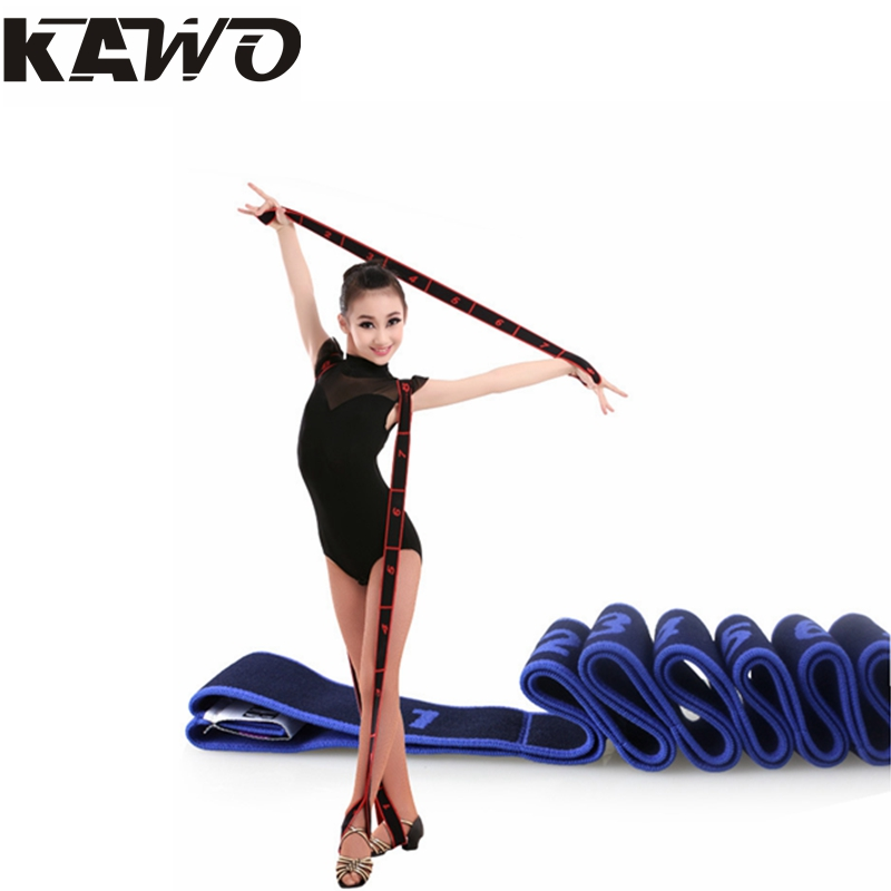 4 Colors 90x4cm Children Latin Elastic Band Girls Yoga Tension Belt Adult Practice Girdle Dance Training With Correct(China (Mainland))