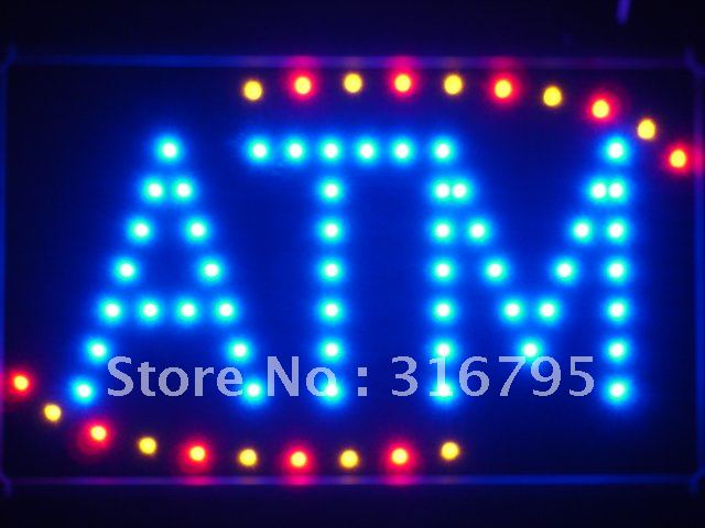 led027-b ATM Blue LED Neon Light Sign with Whiteboard Wholesale Dropshipping<br><br>Aliexpress