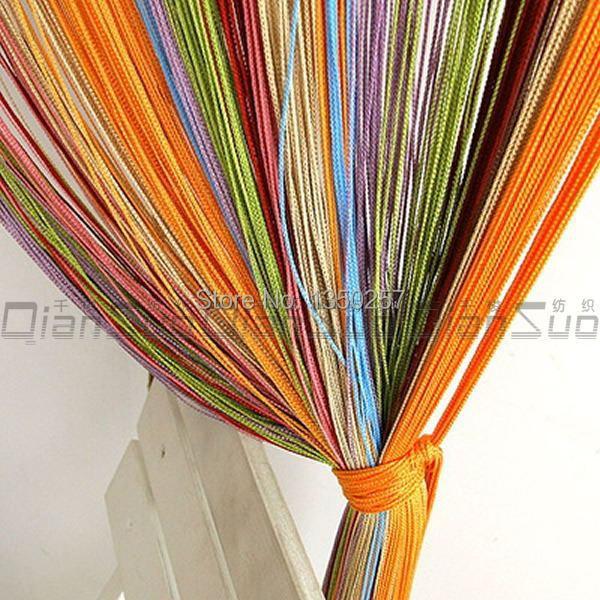 Decorative 100 200cm colorful string curtain line curtain - Tende per porte esterne ...