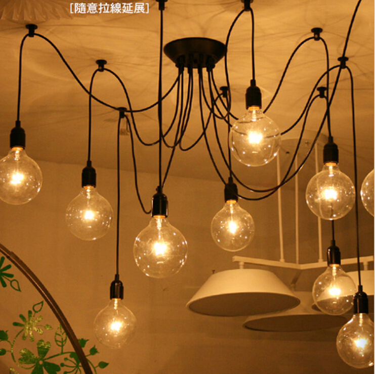 Loft American country industrial Warehouse Edison Vintage Ceiling Lamps for Home,6 lights 8 lamps 10 lights 12 lamps 14 bulb(China (Mainland))