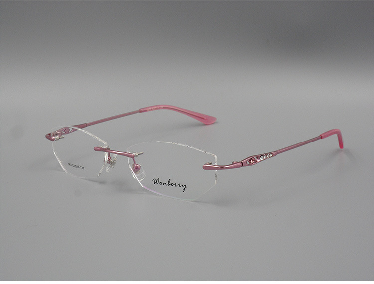 New brand purple silhouette titanium eyeglass frames points women frameless optical computer glasses oculos de grau femininos(China (Mainland))