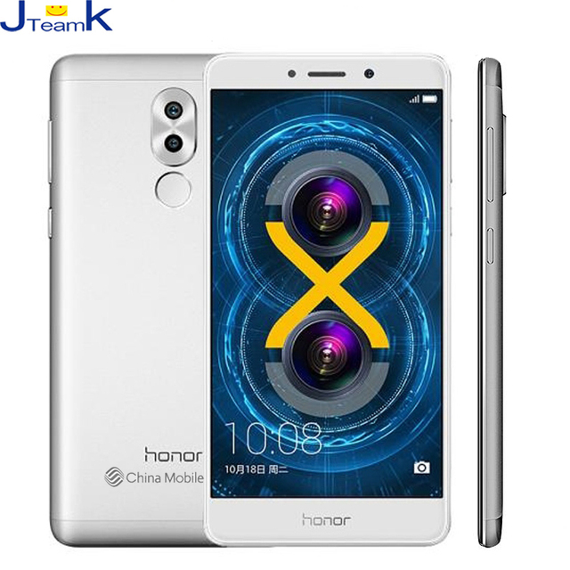 Оригинал Huawei Honor 6X Двойного Заднего Камера 12MP 4 ГБ Ram 32 ГБ Rom 4 Г FDD LTE телефон Окта ядро 5.5 дюймов 1920 * 1080pix Отпечатков Пальцев