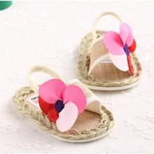 2016 New Style Fashion Cute Light Sweet Summer  Newborn Baby Shoes Girls Princess Soft Soled Rattan Shoes(China (Mainland))