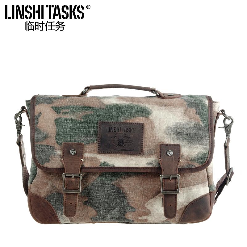 Temporary task 2014 new canvas bag shoulder handbag singles across male casual bape Camo