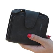 Senhora Snap Fastener Zipper Embreagem Carteira Curto Sólida Carta Moda Bolsa Pequena Bolsa Feminina Curta Fosco Mulheres Carteira Do Vintage(China)