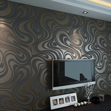 papel de parede High quality 0.7m*8.4m Modern Luxury 3d wallpaper roll mural papel de parede flocking for striped wall paper(China (Mainland))