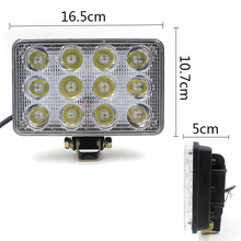 New Arrival 36W 12-85V Square Spot Beam LED Work Light Off-road Truck Boat Lamp Free Shipping(China (Mainland))