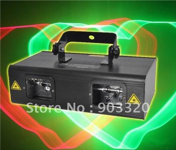 Free Shipping  NEW 200MW RG 3D Double Lens Animation Laser Light,Disco Light,American DJ Light