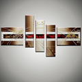 5 panelen canvas wall art modern handmade pictures of abstract oil paintings wall pictures for living