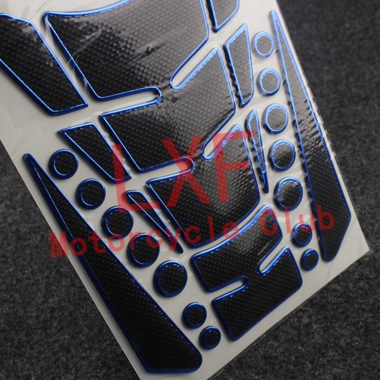 Free Shipping Motorbike Tank Pad Motorcycle Protector Sticker Blue For Suzuki GSR600/750 RGV250 GSX650F SFV650 GLADIUS RF600R(China (Mainland))
