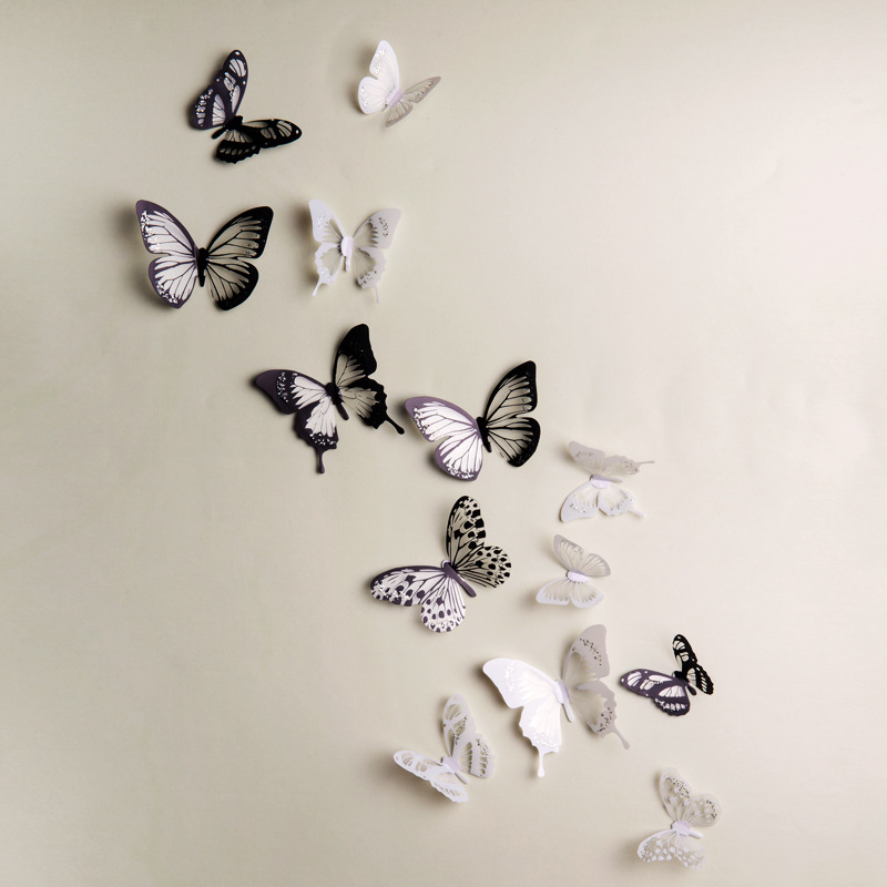 Keuken Decoratie Stickers : 3D Butterfly Wall Decor