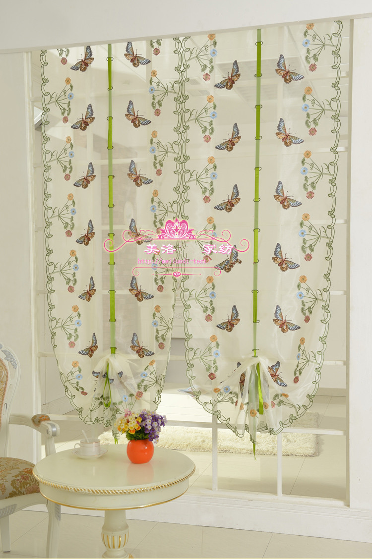 butterfly lace curtain for kitchen window voile curtains