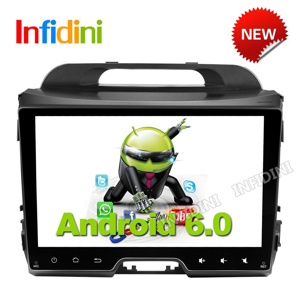 4G 1024*600 Android 6.0 car dvd player KIA sportage r 2011 2012 2013 2014 2015 car pc head unit gps navigation 2 din car stereo(China (Mainland))