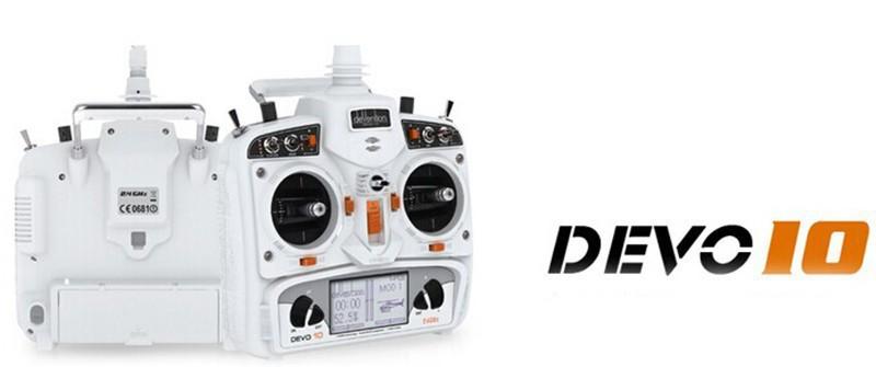 2015 Walkera Devo10 RC Radio White 2.4Ghz 10 Channels Far Range Control Telemetry with 10 CH Receiver(China (Mainland))