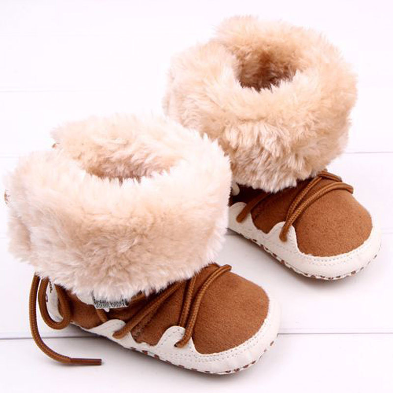 Hot Selling Super Fleece Warm Winter Baby Boys Snow Boots Infant Shoes Antiskid Baby Shoes Girls First Walkers Bebe Boots B04(China (Mainland))