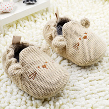 0-18M Newborn Toddler Knit Shoes Boys Girls Cute Mouse Crib Shoes Cartoon Bootee First Walker(China (Mainland))