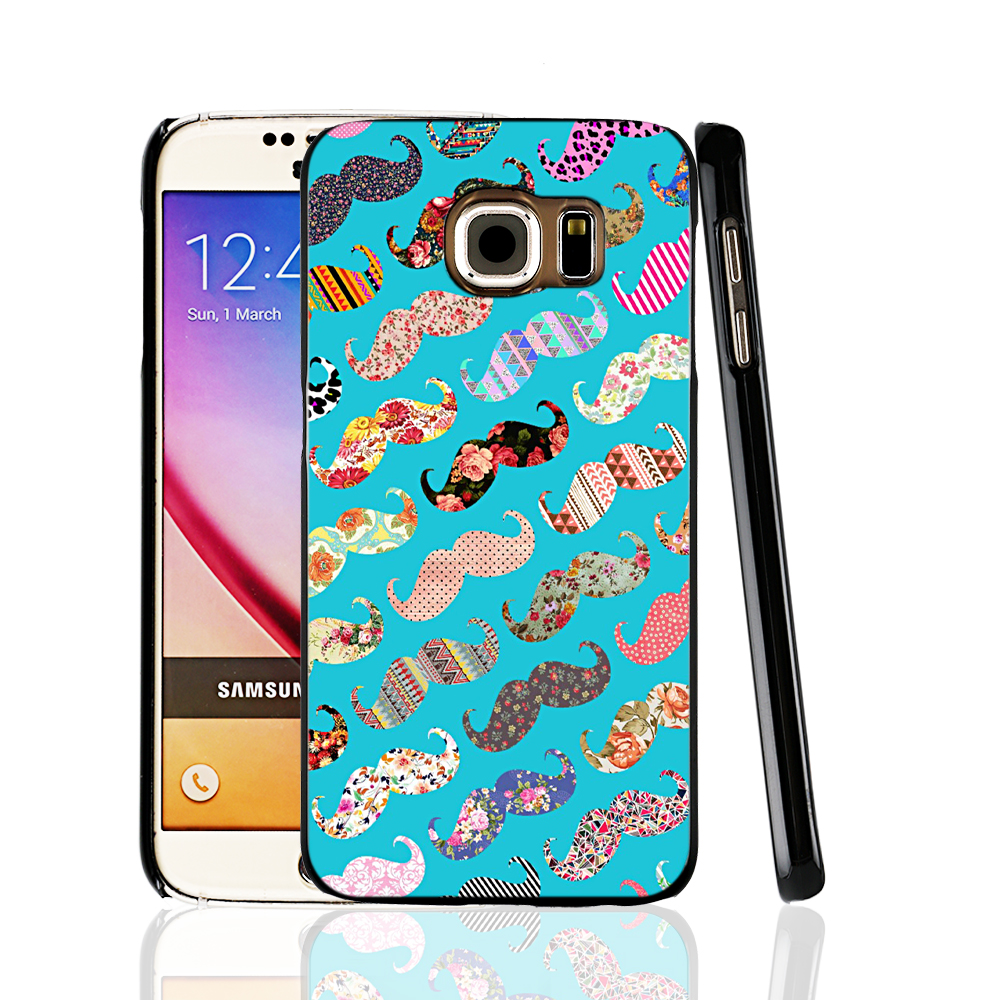 00051 funny girly turquoise floral aztec mustaches poster cell phone protective case cover for Samsung Galaxy A3 A5 A7 A8 A9(China (Mainland))