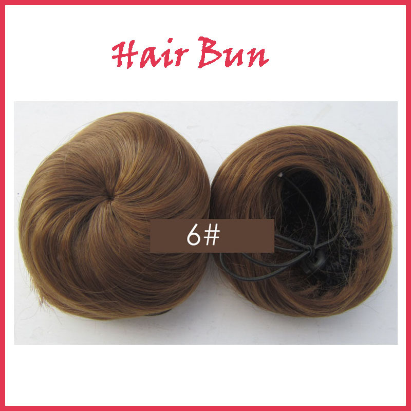 synthetic Hair Bun Wig Roller Ponytail Drawstring Hairpieces Elastic Extension 14H613 colors available - HZY hair Store store