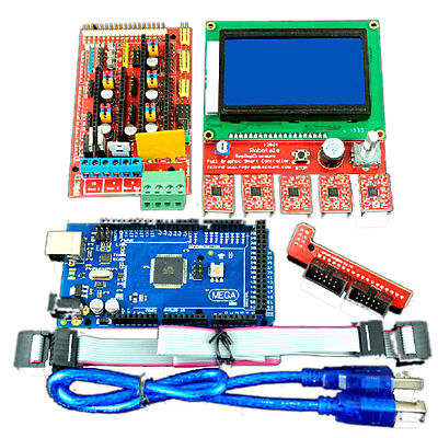 Фотография Mega2560R3 w LCD 12864 Controller w A4988 RAMPS 1.4 3D Printer Kit for Arduino