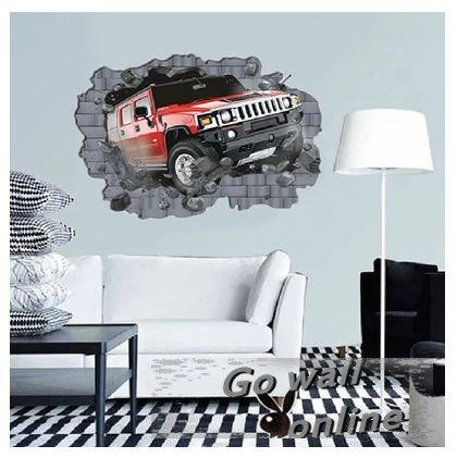 Best Selling 3D Wall Sticker Cars Kids Living Bed Room Stickers Decals pegatinas de pared(China (Mainland))