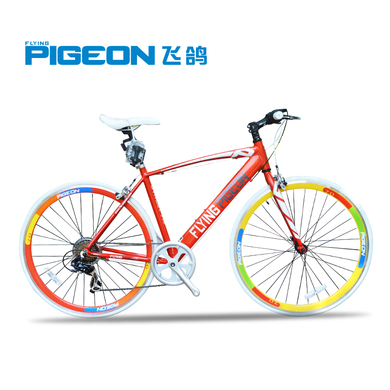 700C 53CM 7 Speed Light Road Bike, Flash Colorful Sport Bike, City Bicycle, Shim@no Transmission, Double V-brake(China (Mainland))