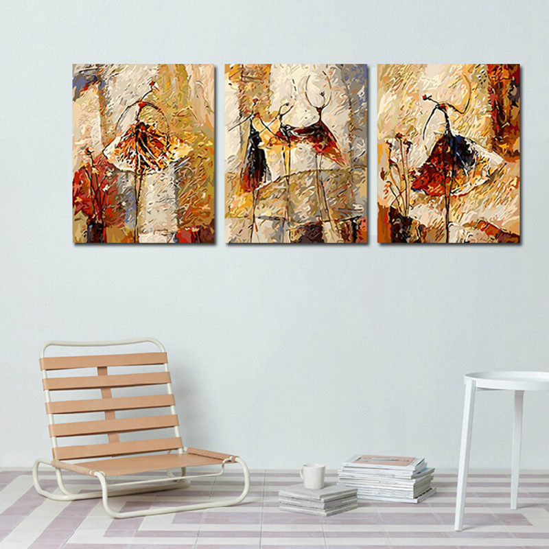 60x75cmxBallet Dancers Modern Abstract DIY Digital Oil Painting Numbers Canvas Wall Stickers Art Home Decor HD0464 - (mix order$15 storeSunshine Store)