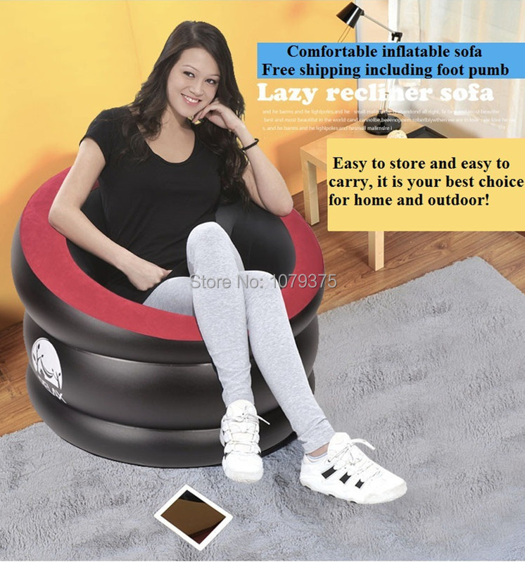 Free ship inflatable sofa bed bean bag sofa living room furniture,home furniture,bedroom furniture,folding furniture sofa chair(China (Mainland))