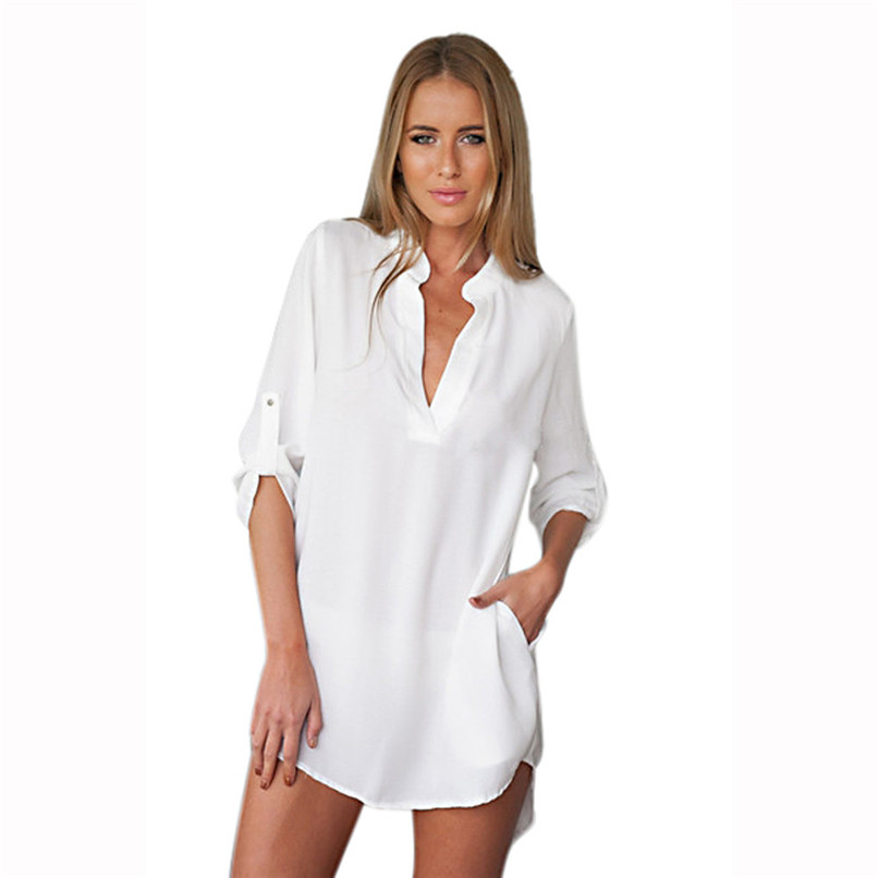 Женские блузки и Рубашки Sanwony v/loose