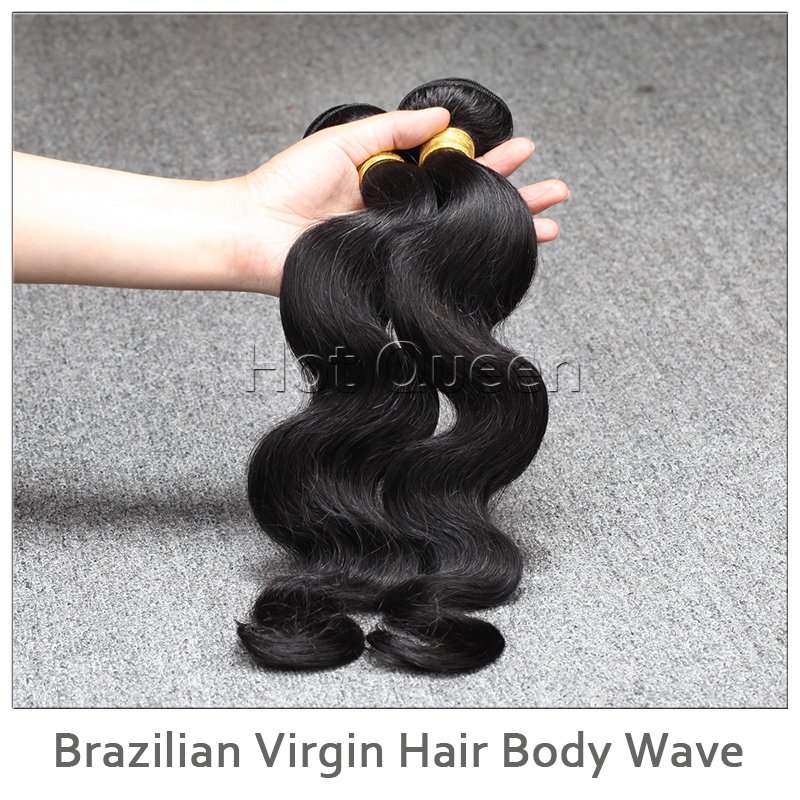 2 Bundles/Lot Brazilian Body Wave Virgin Hair Weaves Natural Color Human Hair Extension Double Weft Brazilian Hair Bundles(China (Mainland))