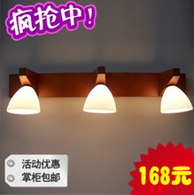 2012 hot sell Classical chinese style solid wood mirror light wall lamp mirror light painting bathroom lamp lamps  free shipping(China (Mainland))