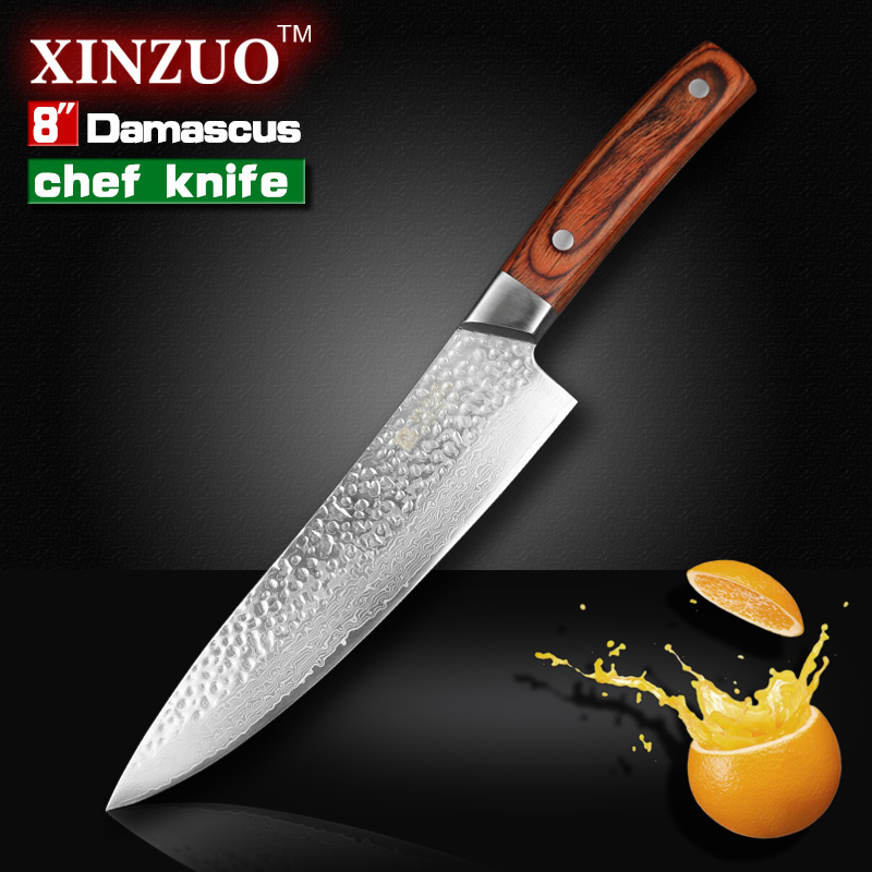 xinzuo 8 chef knife 67 layer japanese damascus steel kitchen knife senior meat vegetable knife. Black Bedroom Furniture Sets. Home Design Ideas