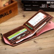 2014 Luxury Fashion Men s Genuine Leather Wallet Hasp Money Clips Purse Wallet Man Male Top