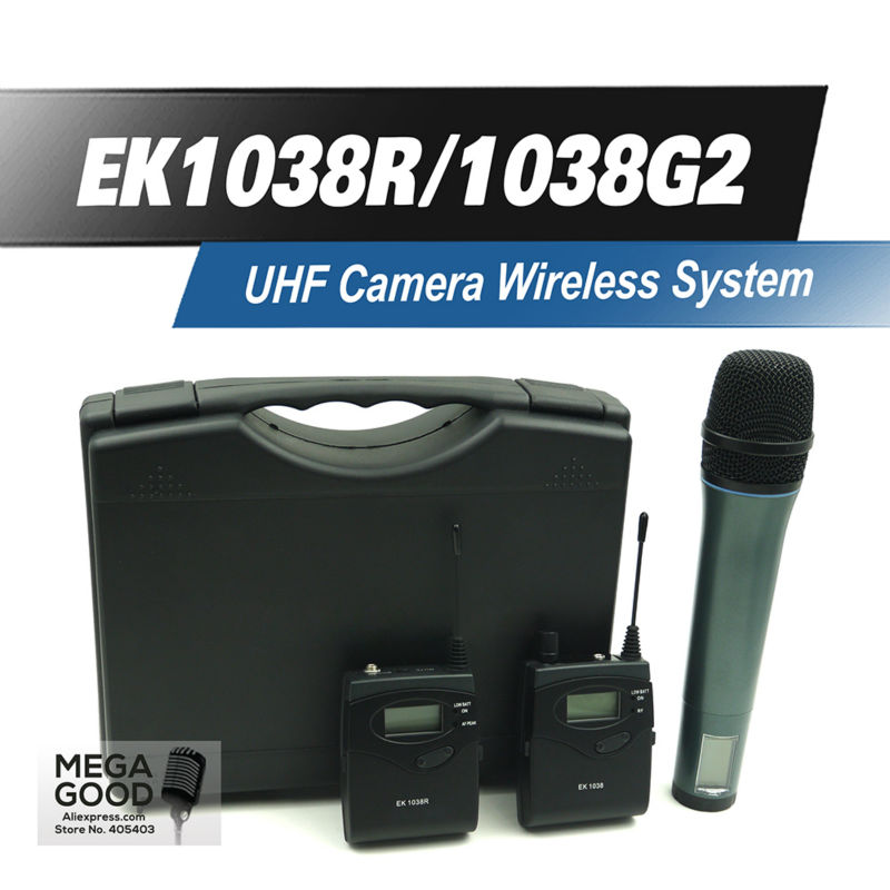 Free Shipping! EK1038 G2 Monitor Wireless System with ew100 Bodypack Handhold Microphone For DV DSLR Camera Camcorder Interview(China (Mainland))