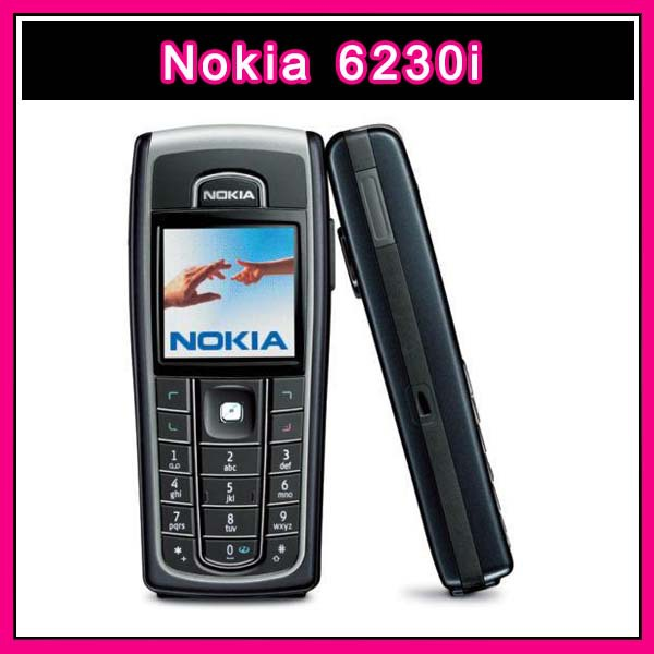 Original Nokia 6230i Bluetooth MP3 FM 1.3MP mobile phone Good quality Refurbished Russian keypad Free Shipping(China (Mainland))