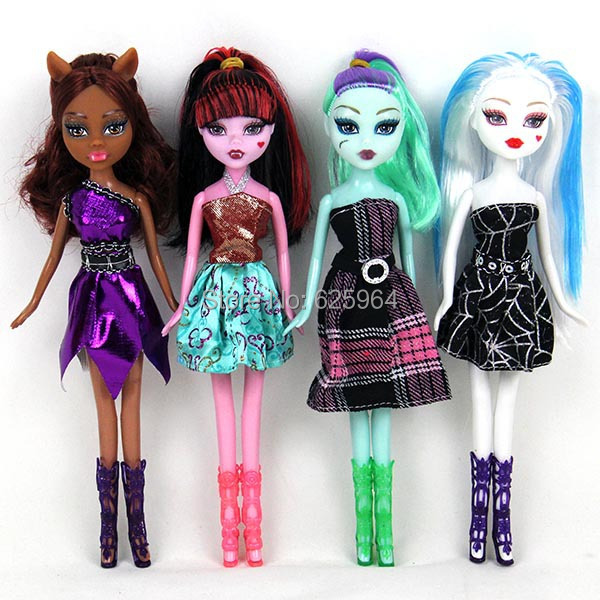 Free shipping New style 9inch 4pcs/1lot monster inc high doll monster hight christmas gift Wholesale fashion dolls(China (Mainland))