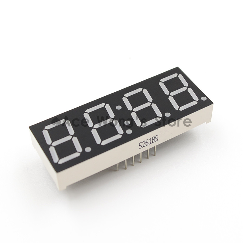 "Free shipping (5Pcs/lot) Wholesale 0.56"" inch 4 Digits 7 Seven Segment Clock Red LED Numeric Digital Display,Common Cathode(China (Mainland))"