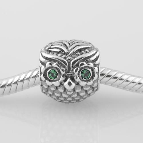 Подходит пандора подвески браслет 925 чистое серебро бусины сова узор европейский подвески-талисманы своими руками ювелирные изделия выводы