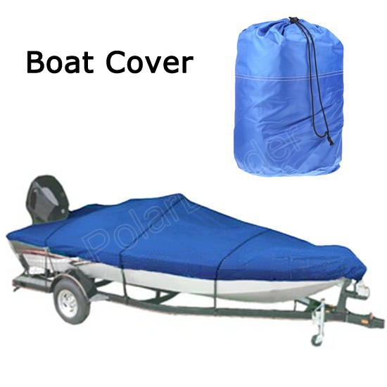 2016 NEW 17-19ft Heavy Duty Speedboat Boat Cover blue Waterproof UV Protector Snow Resistant 210D Fish Ski V-Hull Proof(China (Mainland))